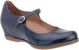 Dansko Leather Wedge Mary Janes - Loralie