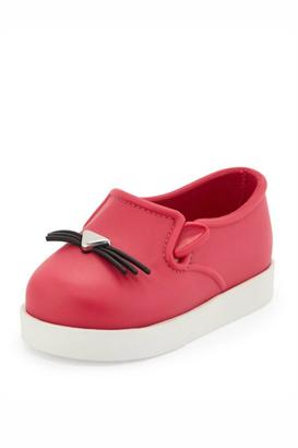 Mini Melissa Kitty Slip Ons $58 thestylecure.com