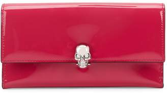 Alexander McQueen Skull Embellished Patent Leather Continental Wallet