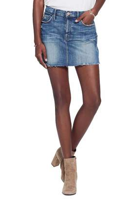 Mother Vagabond Fray Denim Miniskirt
