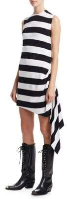 Calvin Klein Striped Jersey Sleeveless Flag Dress
