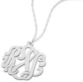 Monogram Online Traditional Silver Handmade Monogram Necklace