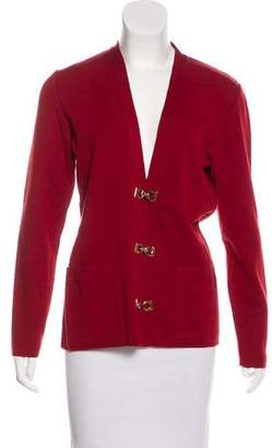 Salvatore Ferragamo Knit Wool Cardigan