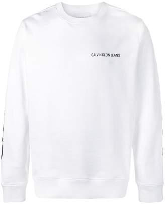 Calvin Klein logo long-sleeve top