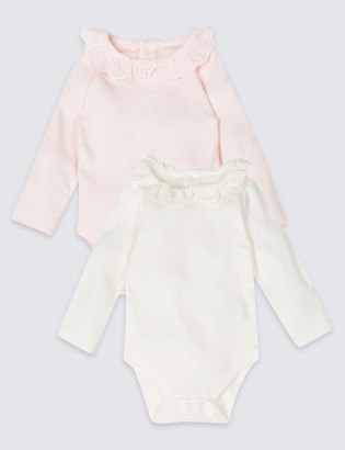 30e4bd75a486 Marks and Spencer 2 Pack Pure Cotton Bodysuits