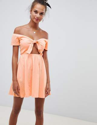 Bardot Asos Design ASOS DESIGN sundress with tie front