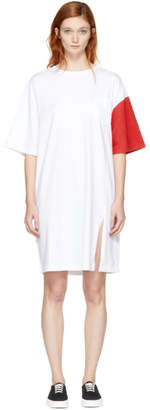 Sjyp White and Red California Club Tee Dress