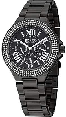 Co SO & New York Women's 5019.5 Madison Crystal-Accented Stainless Steel Watch with Link Bracelet