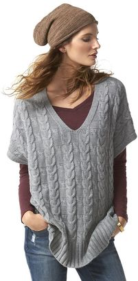 Women's SONOMA Goods for LifeTM Cable Knit Poncho Sweater $44 thestylecure.com