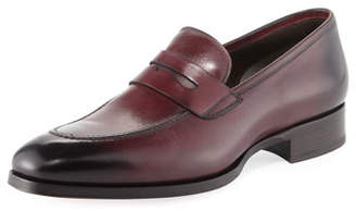 Tom Ford Leather Penny Loafer, Cherry