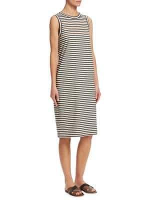 Brunello Cucinelli Striped Cotton Dress