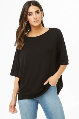Forever 21 Ribbed Knit Boat Neck Top