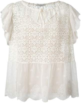 Stella McCartney ruffled short sleeve top