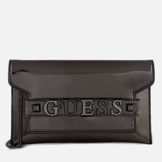 At Mybag Guess Women S Summer Nights City Clutch Bag Pewter