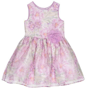 Laura Ashley Girl Violet Floral Print Dress