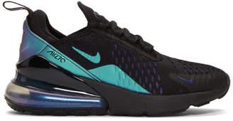 Nike Black and Purple Air Max 270 Sneakers