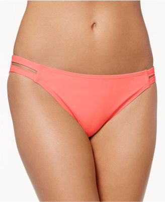 California Waves Strappy Hipster Bikini Bottoms Women's Swimsuit $28 thestylecure.com