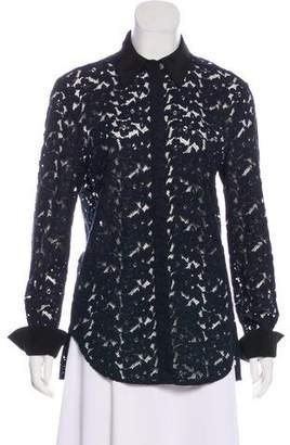 3.1 Phillip Lim Lace Collared Blouse