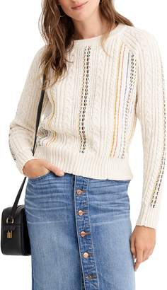 J.Crew Rainbow Cable Knit Sweater
