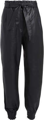 Munthe Houdini Leather High-Rise Trousers