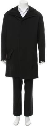 Salvatore Ferragamo Layered Hooded Coat