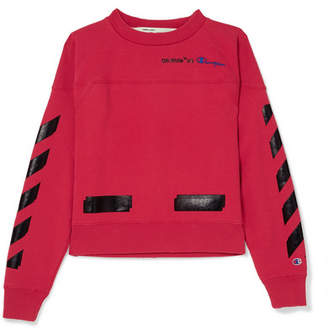 Off-White OffWhite - + Champion Printed Cotton-blend Jersey Sweatshirt