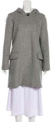 Cinzia Rocca Hooded Button-Up Coat