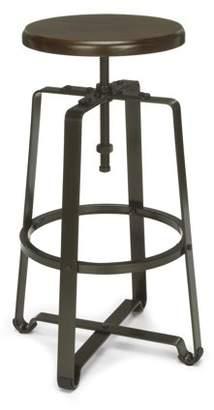 OFM Endure Series Model 920 Stationary Tall Stool, Walnut Wood with Dark Vein Metal Frame