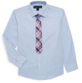 Saks Fifth Avenue Boy's Two Piece Sport Shirt & Tie Set