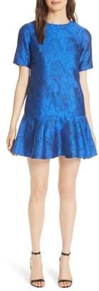 Alice + Olivia Esther Ruffle Hem Mini Dress