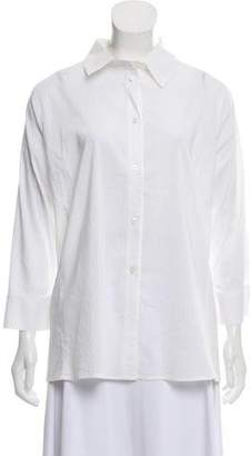 Armani Collezioni Pinstripe Button-Up Top