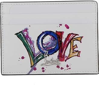 Christian Louboutin White Leather Wallet