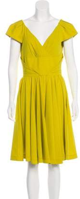Zac Posen Pleat-Accented Silk Dress
