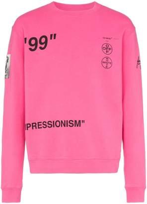 Off-White impressionism cotton sweatshirt