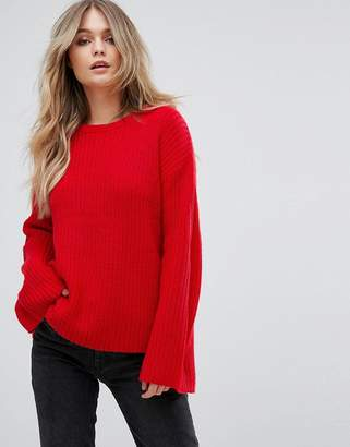Brave Soul Mode Fisherman Jumper With Exaggerated Sleeve
