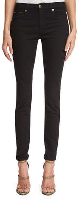 Roberto Cavalli Five-Pocket Denim Leggings, Black