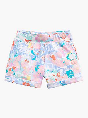 Joules Little Joule Girls' Jersey Shorts, Blue/Multi