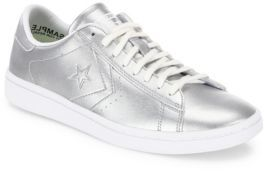 Converse Chuck Taylor Pro Metallic Leather LP Ox Sneakers $90 thestylecure.com