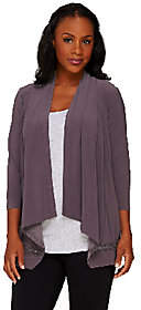 Joan Rivers Classics Collection Joan Rivers Drape Front Knit Cardigan withCrochet Detail