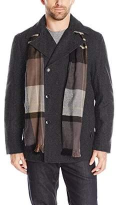 London Fog Men's Wool Blend Double Breasted Pea Coat