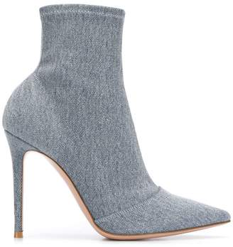 Gianvito Rossi denim sock boots