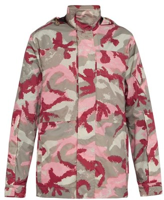 Valentino Camo Art Print Jacket - Mens - Pink Multi