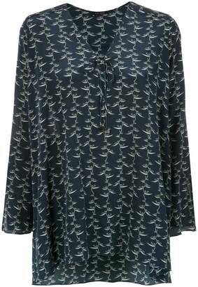 Tufi Duek foliage print tunic