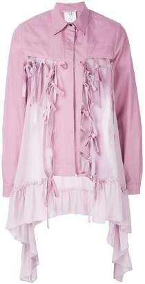 Marco De Vincenzo buttoned ruffle embellished jacket