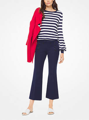 Michael Kors Striped Viscose-Blend Pullover