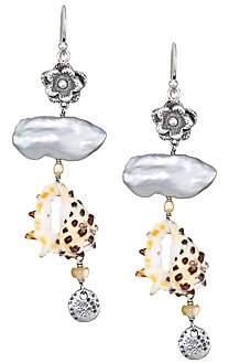 Chan Luu Women's 2mm Champagne Pearl & Cowry Shell Dangle Earrings