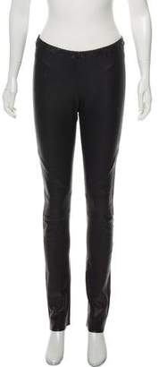 IRO Mid-Rise Leather Pants