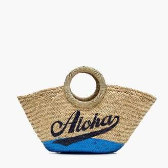 """J.Crew Raffia tote in """"aloha"""""""