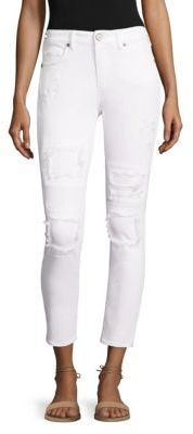 True Religion Halle Super Skinny Distressed Jeans $219 thestylecure.com