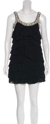 Rachel Gilbert Beaded Mini Dress